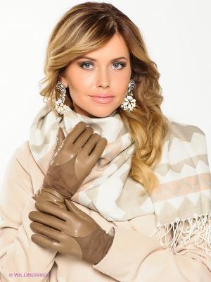 Перчатки Eleganse. Цвет: бежевый