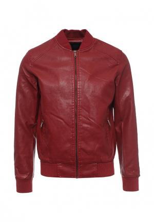 Куртка кожаная B.Men. Цвет: бордовый
