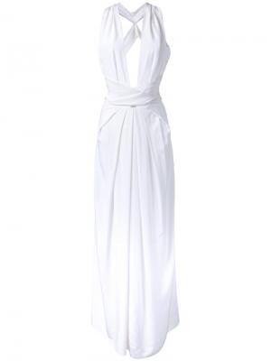 Платье без рукавов Bianca Spender. Цвет: белый