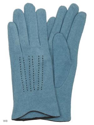 Перчатки Palantini. Цвет: голубой
