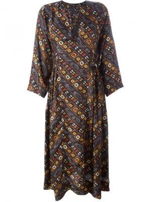 Платье с принтом Tizy Isabel Marant. Цвет: чёрный
