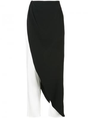 Брюки с декоративной юбкой Baja East. Цвет: чёрный