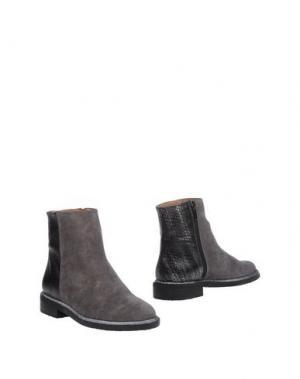Полусапоги и высокие ботинки MARIAN. Цвет: серый
