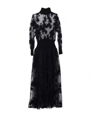 Длинное платье MARIUCCIA. Цвет: черный