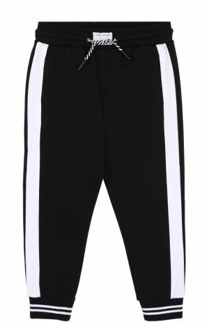 Джоггеры с эластичным поясом и лампасами Marc Jacobs. Цвет: черно-белый