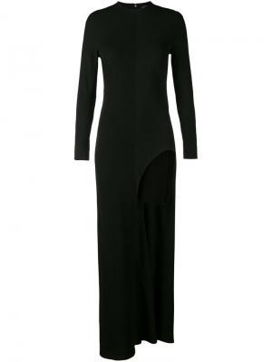Платье с разрезом Haider Ackermann. Цвет: чёрный