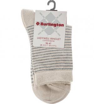 Бежевые носки в полоску Burlington. Цвет: полоска