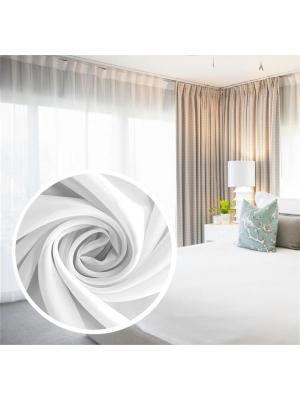 Вуаль Amore Mio однотонная 300*270 см белый. Цвет: белый