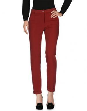 Повседневные брюки NICE THINGS by PALOMA S.. Цвет: красно-коричневый