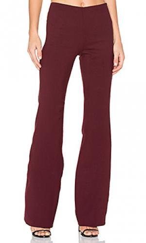 Клешные брюки demitria Theory. Цвет: вишня
