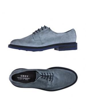 Обувь на шнурках GREY DANIELE ALESSANDRINI. Цвет: серый