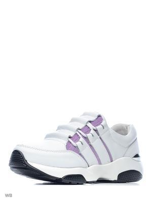 Ботинки Palazzo D'oro. Цвет: белый, фиолетовый