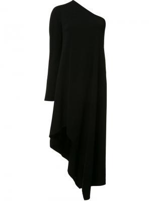 Асимметричное платье на одно плечо Narciso Rodriguez. Цвет: чёрный