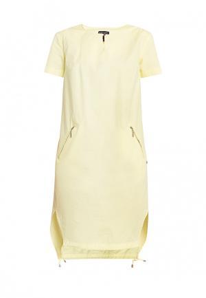 Платье Finn Flare. Цвет: желтый
