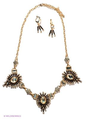 Комплект Lovely Jewelry. Цвет: золотистый, черный