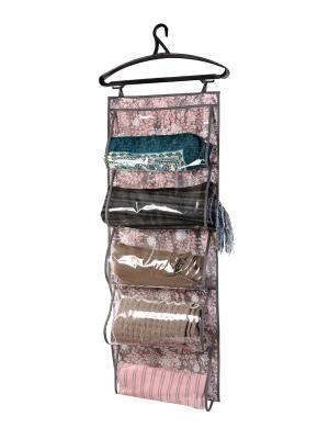 Кофр для одежды, 5 карманов, 105х40см Серебро 907 COFRET. Цвет: серый, белый, розовый