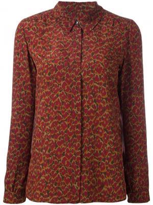 Рубашка с цветочным принтом Vanessa Seward. Цвет: красный