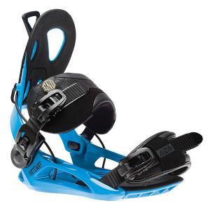 Крепления для сноуборда  Gateway Bind Blue GNU. Цвет: черный,синий