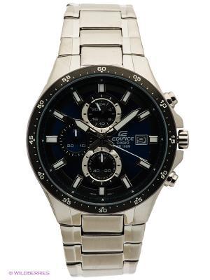 Часы EDIFICE EFR-519D-2A CASIO. Цвет: серебристый, синий