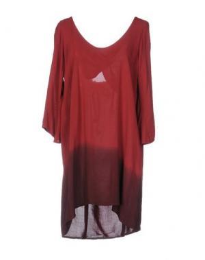 Короткое платье MONICA •LENDINEZ. Цвет: красно-коричневый