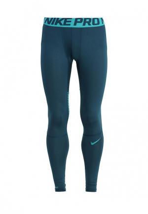 Тайтсы Nike. Цвет: зеленый