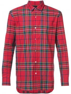 Рубашка в клетку D.Gnak. Цвет: красный