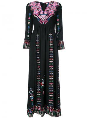 Платье макси Irina Ulla Johnson. Цвет: чёрный