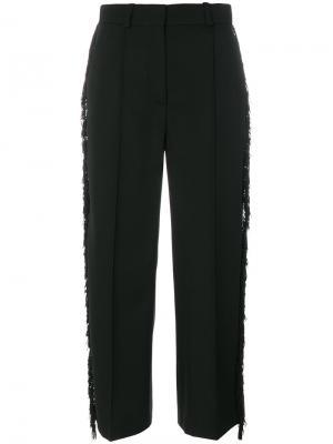 Укороченные брюки с отделкой бисером Racil. Цвет: чёрный