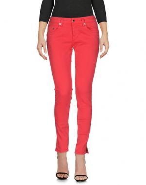 Джинсовые брюки PEOPLE LAB.. Цвет: красный