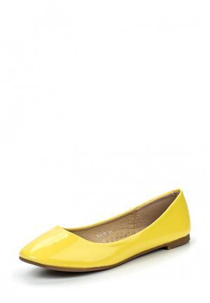 Балетки My&My. Цвет: желтый