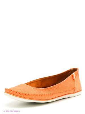 Балетки J&Elisabeth. Цвет: оранжевый