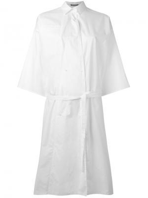Платье-рубашка с поясом Nehera. Цвет: белый