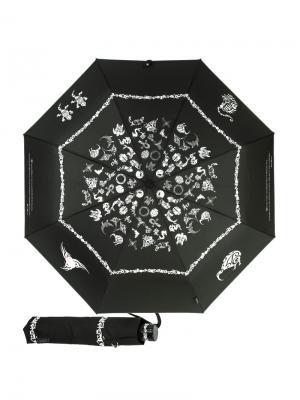 Зонт складной EMME M388-OC Tatoo Beige. Цвет: черный