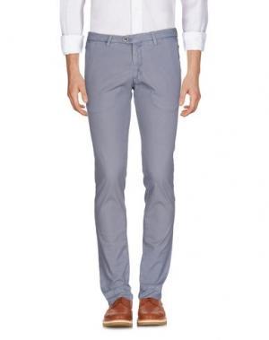 Повседневные брюки B SETTECENTO. Цвет: грифельно-синий