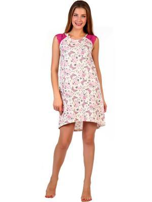 Ночная сорочка Татьяна Vilana. Цвет: розовый