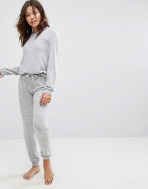 Boux Avenue Топ и штаны для дома Nia. Цвет: серый