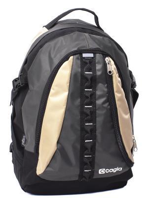 Ранец CAGIA. Цвет: черный, бежевый, серый