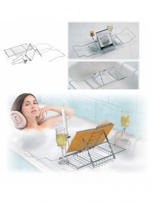 Полка для ванны МАЛЬДИВЫ BRADEX. Цвет: серый