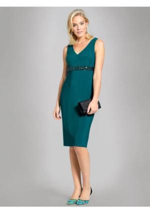 Коктейльное платье ASHLEY BROOKE by Heine. Цвет: темно-зеленый, черный