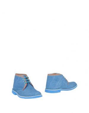 Полусапоги и высокие ботинки BRAWN'S. Цвет: лазурный
