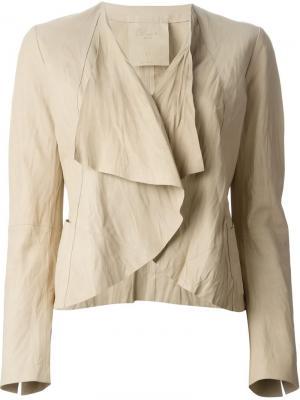 Куртка с широкими лацканами Raw +. Цвет: телесный