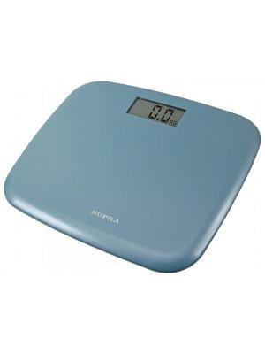 Весы напольные электронные BSS-6050, 150 кг Supra. Цвет: голубой
