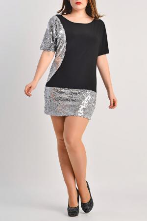 Платье Moda di Lorenza. Цвет: black and silver