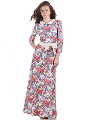 Платье OLIVEGREY. Цвет: красный, белый