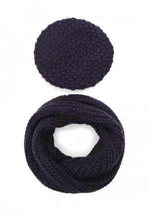 Комплект шапка и снуд Avanta. Цвет: синий