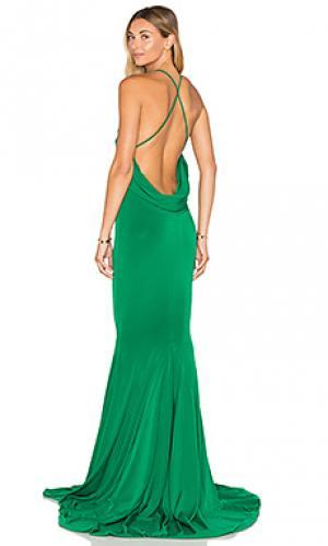 Вечернее платье barthelemy Gemeli Power. Цвет: зеленый