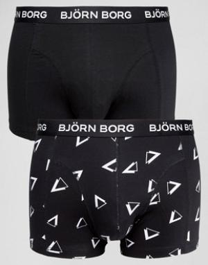 Bjorn Borg Набор из 2 пар боксеров-брифов с треугольниками. Цвет: черный