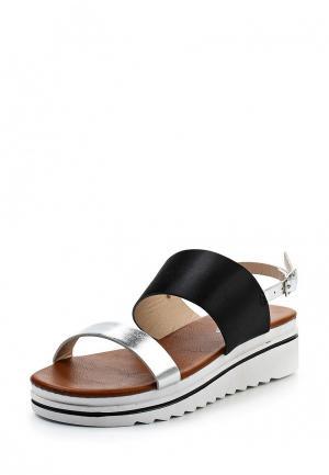 Босоножки Ideal Shoes. Цвет: серебряный