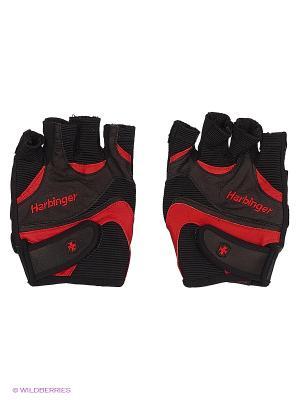 Перчатки для фитнеса мужские FlexFit HARBINGER. Цвет: черный, красный