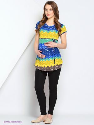 Блуза Gebbe. Цвет: синий